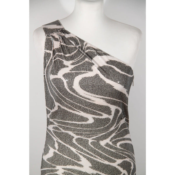 Roberto Cavalli Sequin Bodycon One Shoulder Mini Dress Opherty & Ciocci