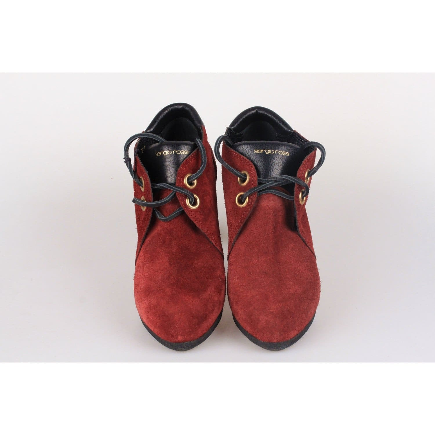 Burgundy Boots Lace Up Ankle Opherty Sergio Rossi Suede Ciocci amp; 4nqRg7