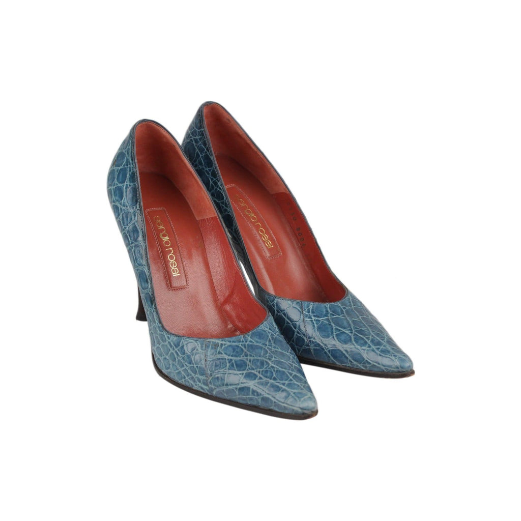 Embossed Croc Look Classic Pumps Size 38 Opherty & Ciocci