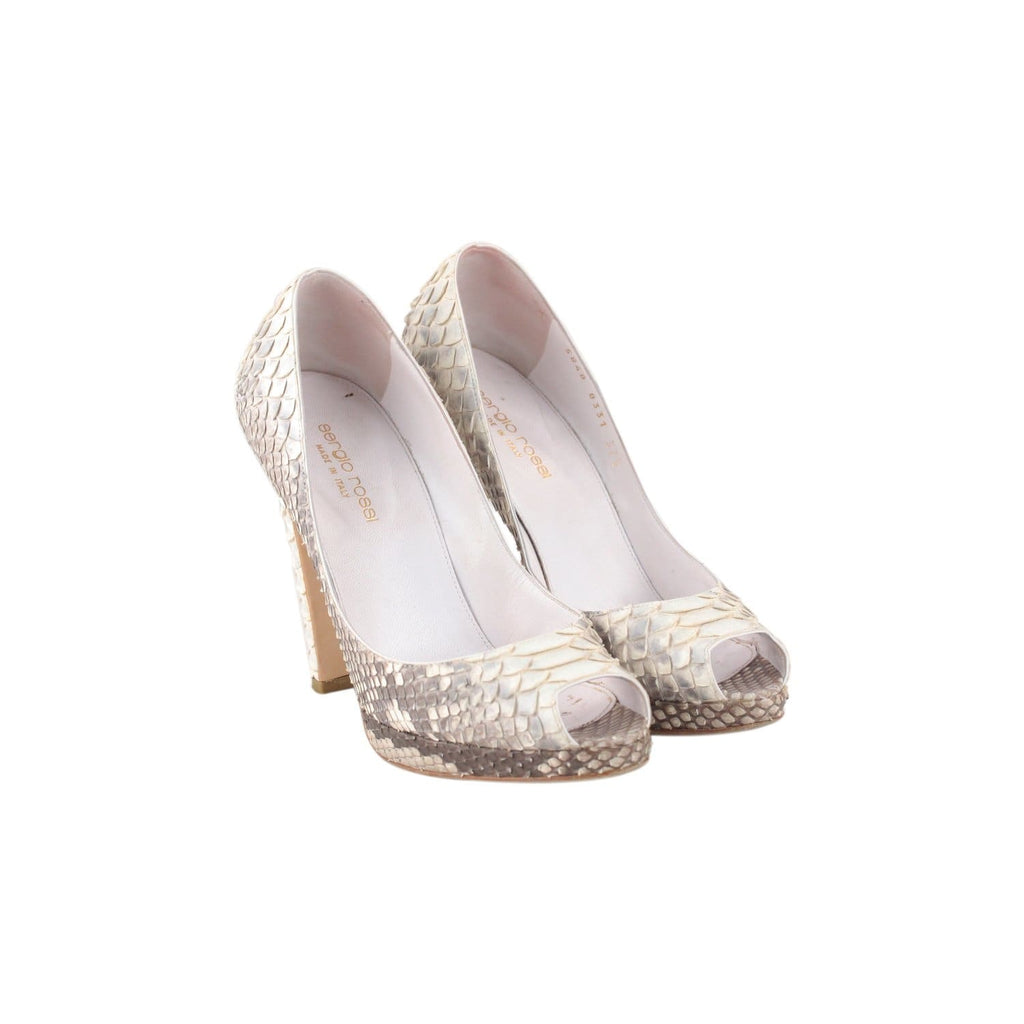 Python Open Toe Shoes Heels Size 37.5 Opherty & Ciocci