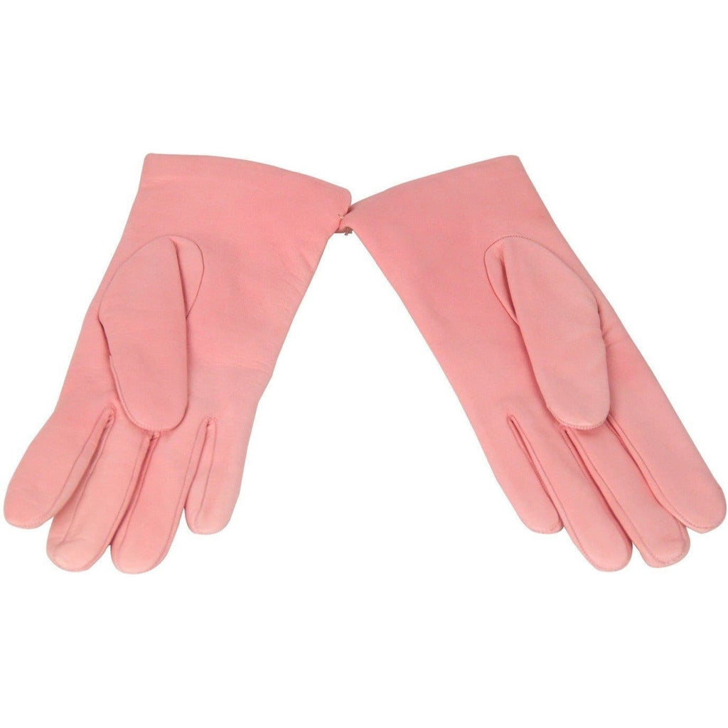 Sermoneta Pink Leather Gloves W/ Cashmere Lining Size 7 Opherty & Ciocci