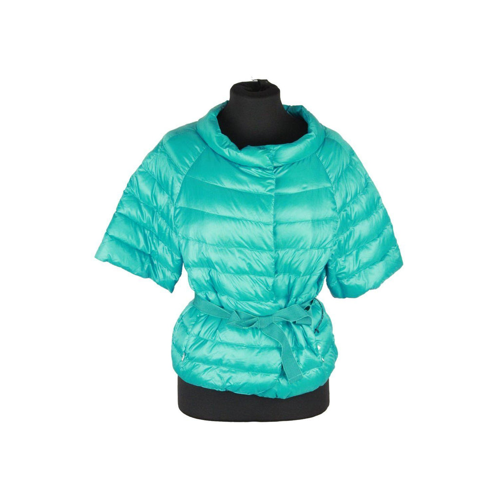 Silk And Soie Turquoise Nylon Ultra Light Down Jacket Size 42 Opherty & Ciocci