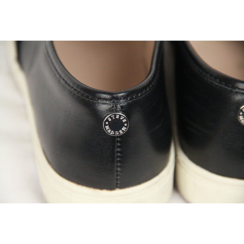 Steve Madden Black Leather Embellished Emuse-R Trainer Size 8 Opherty & Ciocci