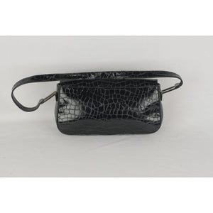 Stuart Weitzman Black Embossed Leather Shoulder Bag Opherty & Ciocci