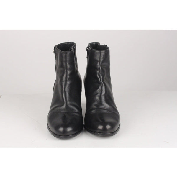 Leather Ankle Boots Hidden Wedges Size 38 Opherty & Ciocci