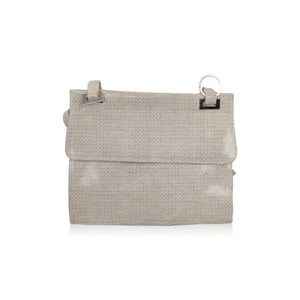 Stuart Weitzman Shiny Canvas Shoulder Bag Opherty & Ciocci