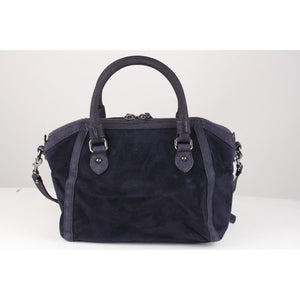 Suede Satchel Shoulder Bag Opherty & Ciocci