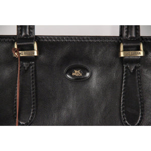 The Bridge Black Leather Briefcase Work Bag Opherty & Ciocci