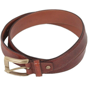 THE BRIDGE Brown Leather WAIST BELT Size 110 - 125 - OPHERTYCIOCCI