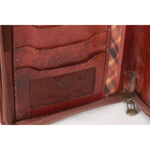 The Bridge Brown Leather Zip Agenda Cover Organizer Opherty & Ciocci