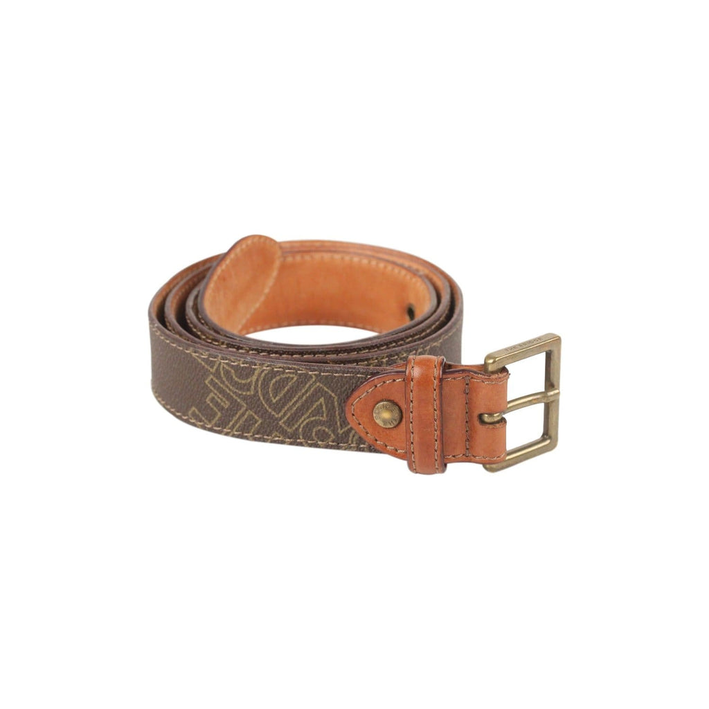 Canvas & Leather Logo Belt Opherty & Ciocci