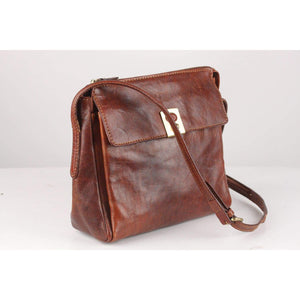 Messenger Bag With Front Pocket Opherty & Ciocci