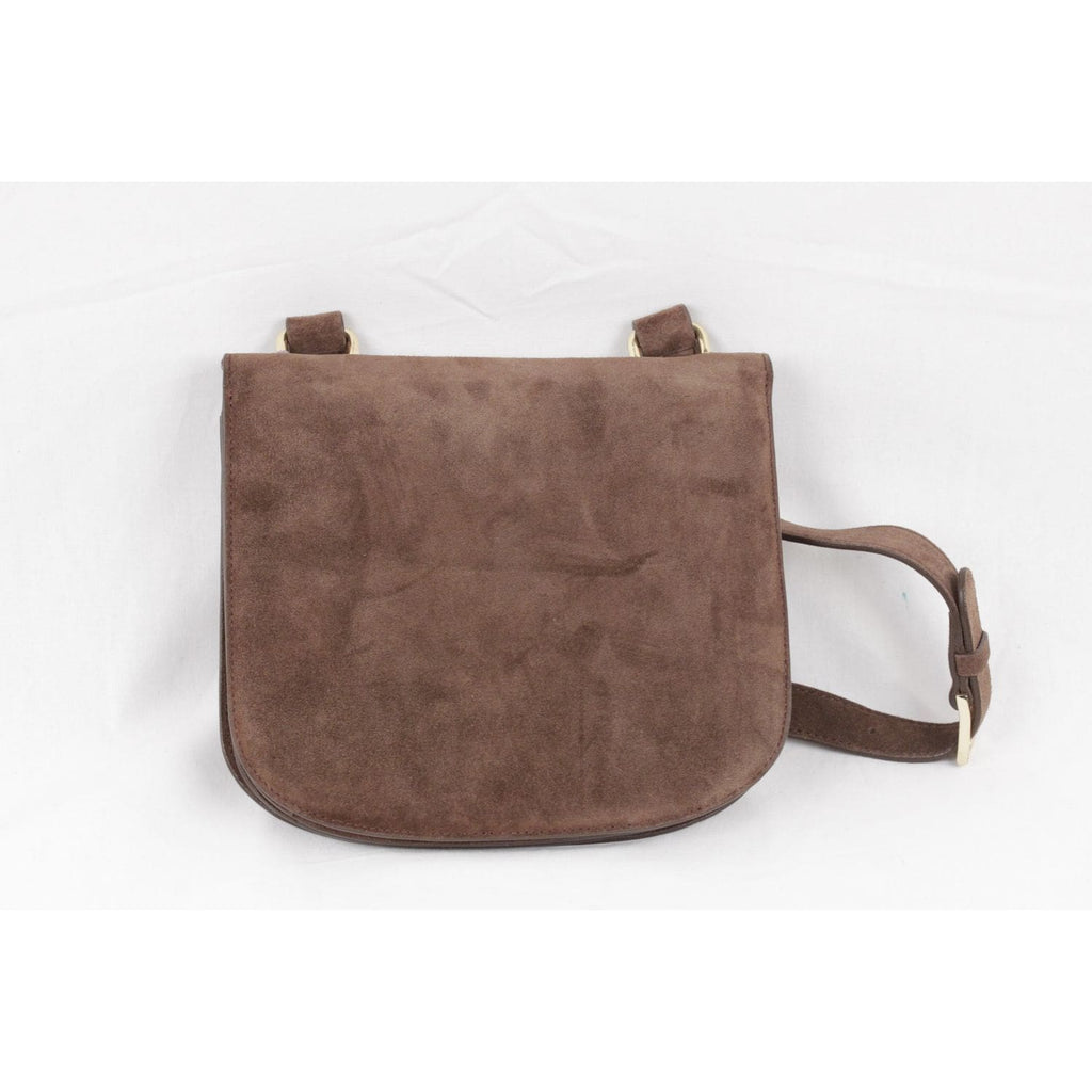 Tocca Vintage Brown Suede Shoulder Bag Messenger With Built-In Mirror Opherty & Ciocci