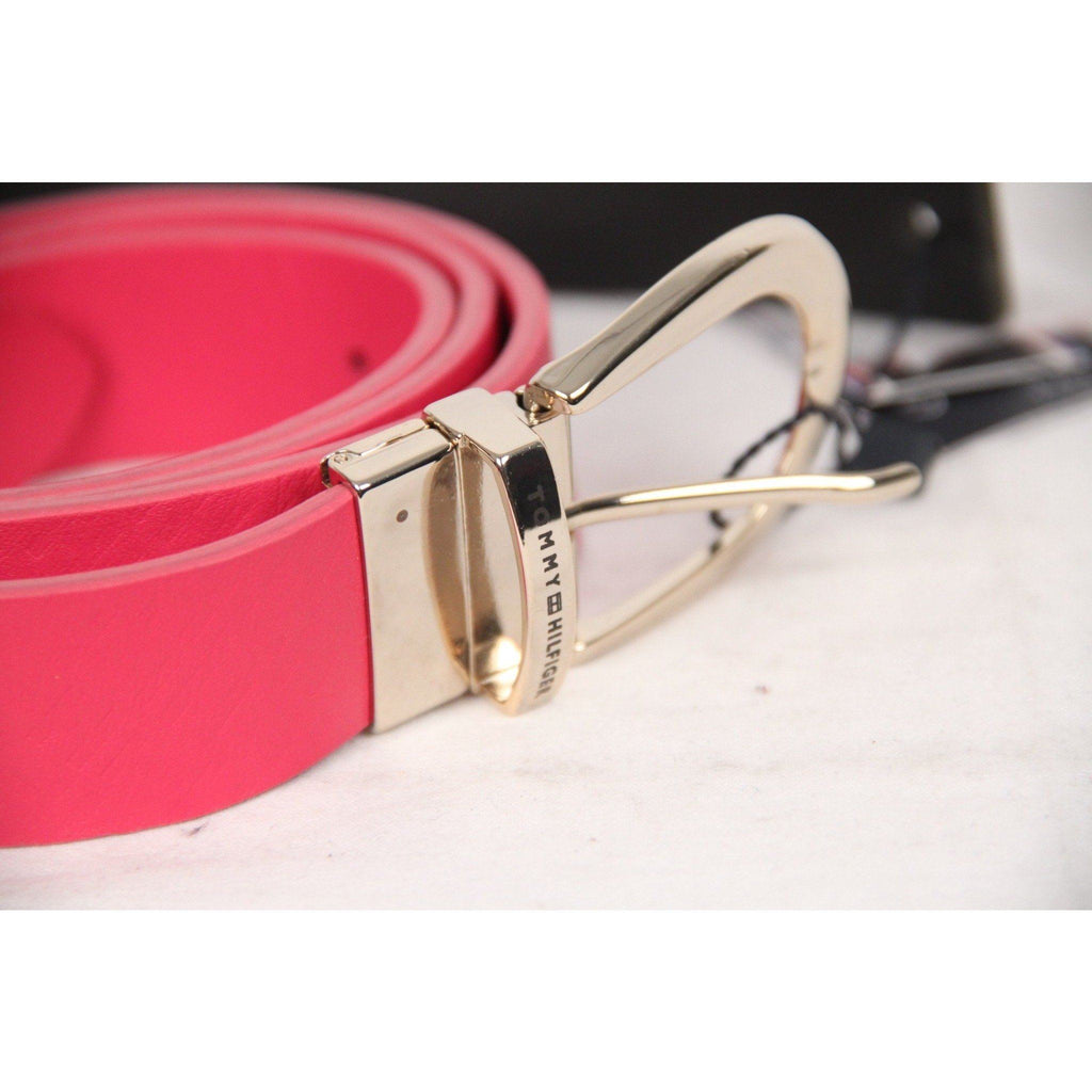 Tommy Hilfiger Pink Leather Reversible Dominique Belt Size 90 Opherty & Ciocci
