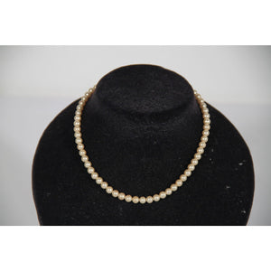 TRIFARI Vintage Jewelry Single Strand FAUX PEARL NECKLACE Chocker
