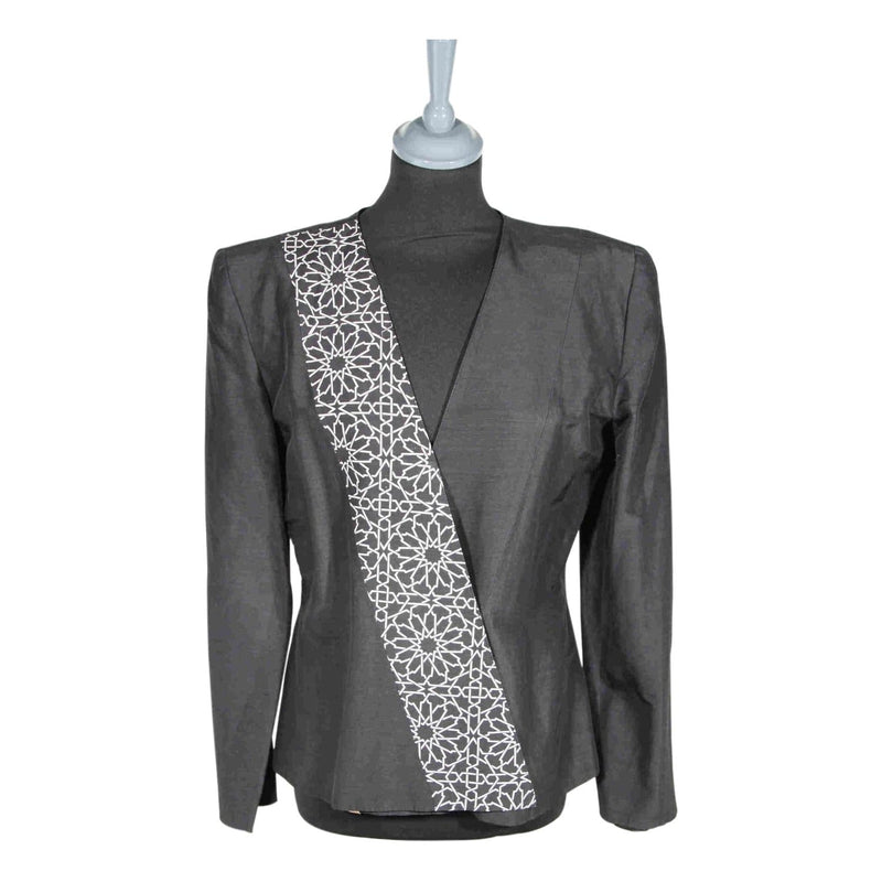 Collarless Black Blazer Or Jacket Opherty & Ciocci