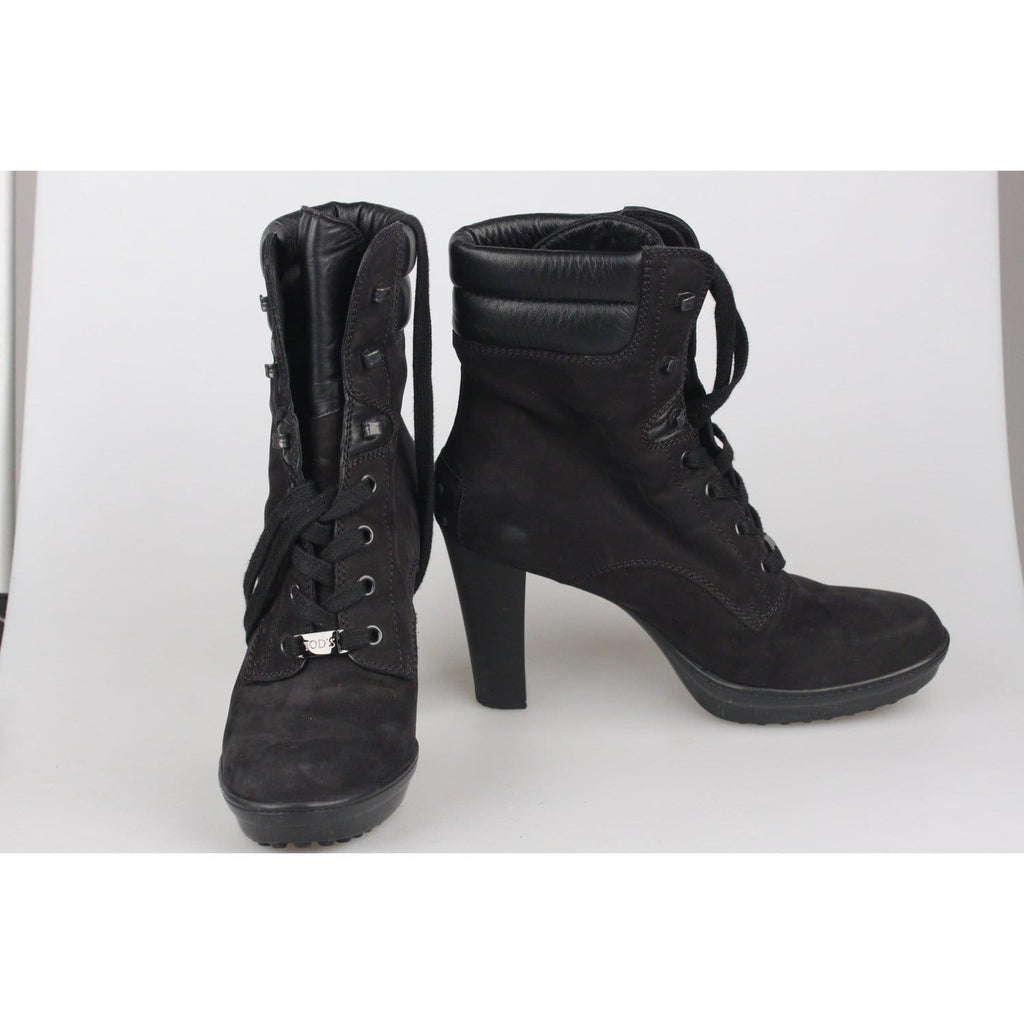 Lace Up Heeled Ankle Boots Size 38 Opherty & Ciocci