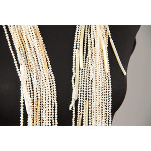 Baroque Pearls And Mother Of Pearl Long Wrap Necklace Opherty & Ciocci