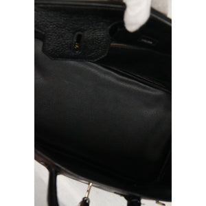Black Leather Top Handles Bag Satchel Opherty & Ciocci