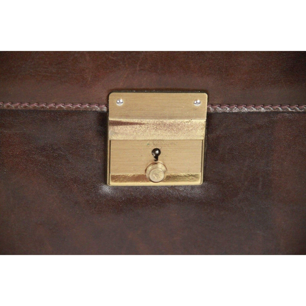 Douglas Vintage Brown Leather Portfolio Document Holder Opherty & Ciocci