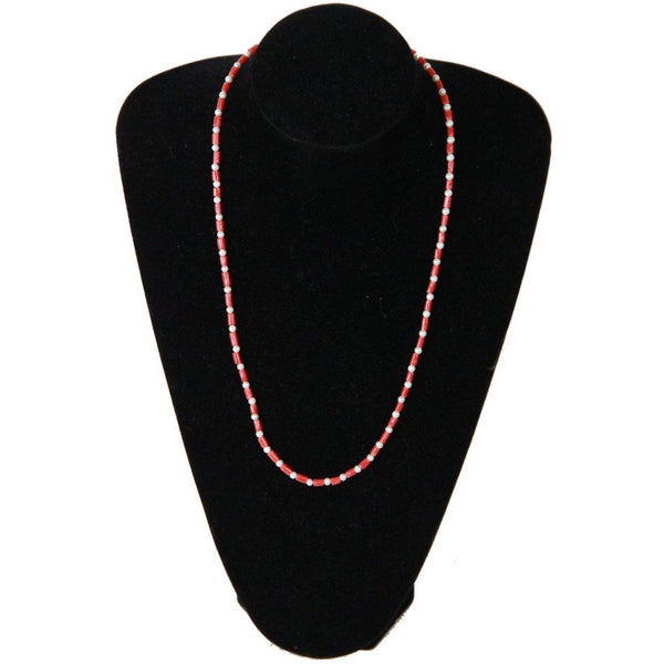 Handmade 4Mm Round Freshwater Pearls & Coral Beads Necklace Opherty & Ciocci
