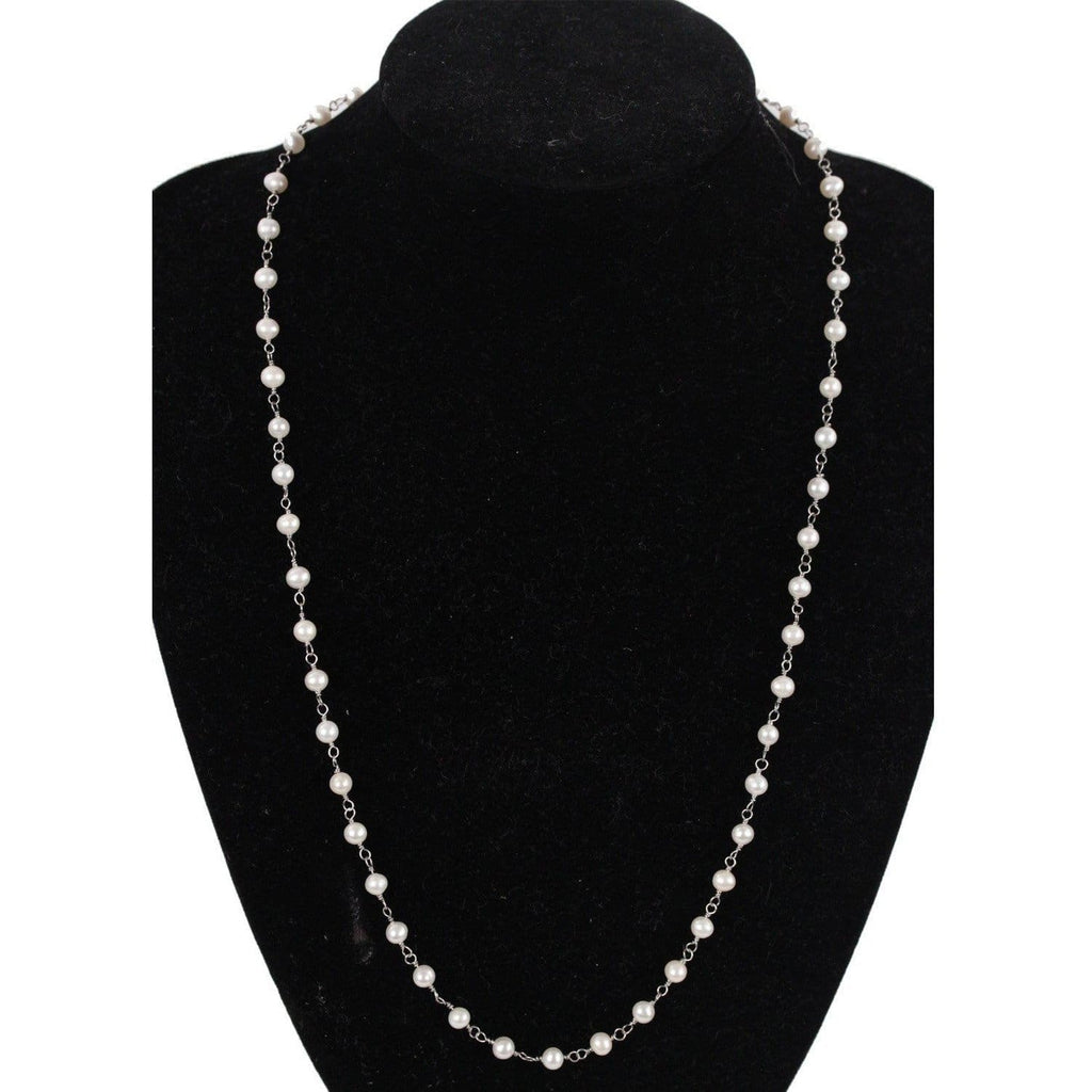 Handmade 5Mm Round Freshwater Pearls Necklace Opherty & Ciocci