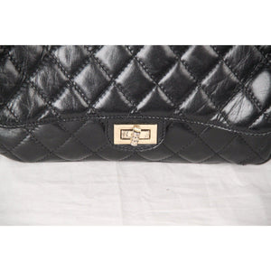Vintage Black Quilted Leather Shoulder Bag Opherty & Ciocci