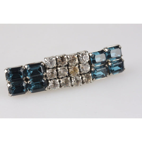 Vintage Rectangular Crystals Earrings And Brooch Set Opherty & Ciocci