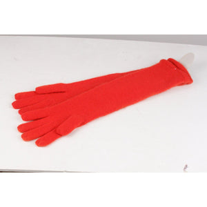 Vintage Red Cashmere Elbow Gloves Opherty & Ciocci