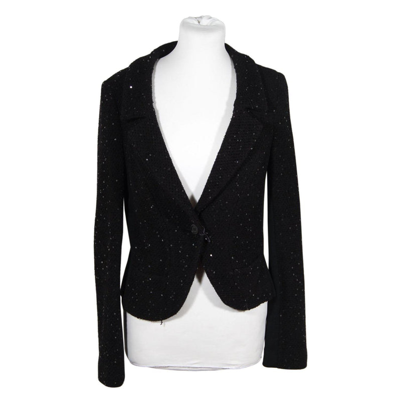 Black Blazer Jacket With Sequins Opherty & Ciocci
