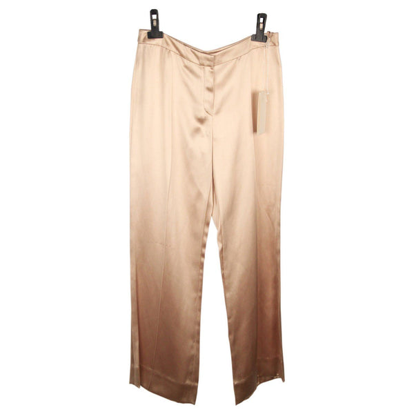 Valentino Beige Silk Blend Evening Pants Trousers Size 8 Opherty & Ciocci