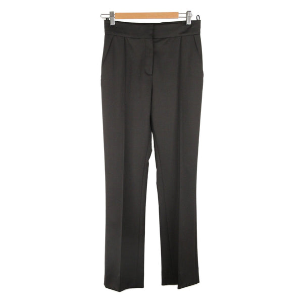 VALENTINO Black Wool CENTRAL PLEAT PANTS Trousers Size 6