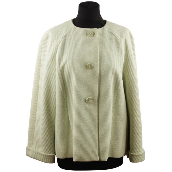 VALENTINO BOUTIQUE VINTAGE Light Green Wool & Viscose Medium JACKET