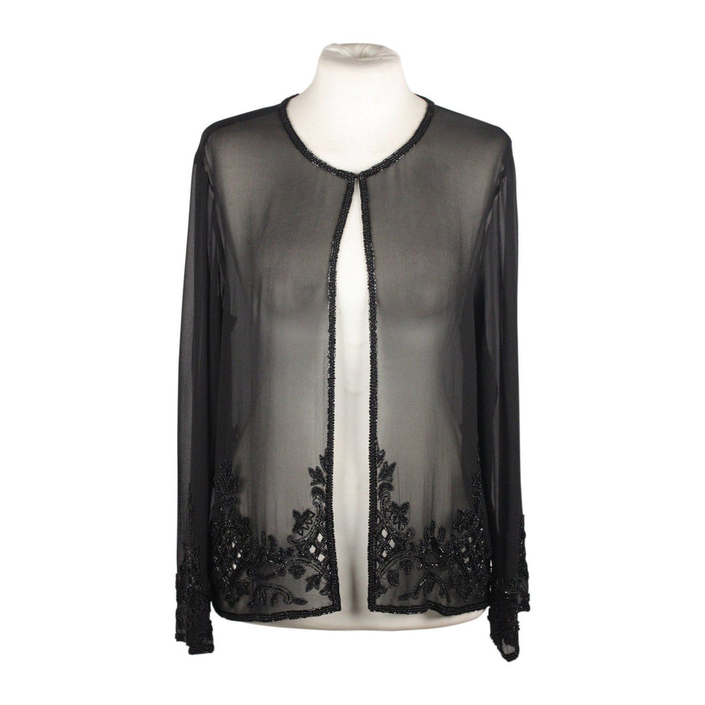 Chiffon Evening Jacket With Beadwork Opherty & Ciocci