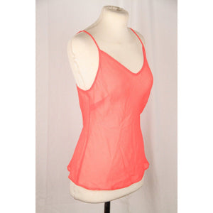 Valentino Fluo Pink Sheer Silk Cami Top Size 44 Opherty & Ciocci