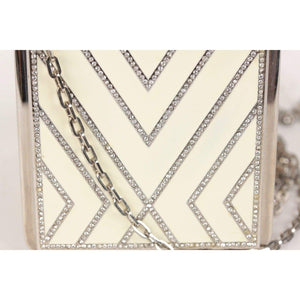 Haute Couture 2001 White Enamel Evening Bag Opherty & Ciocci