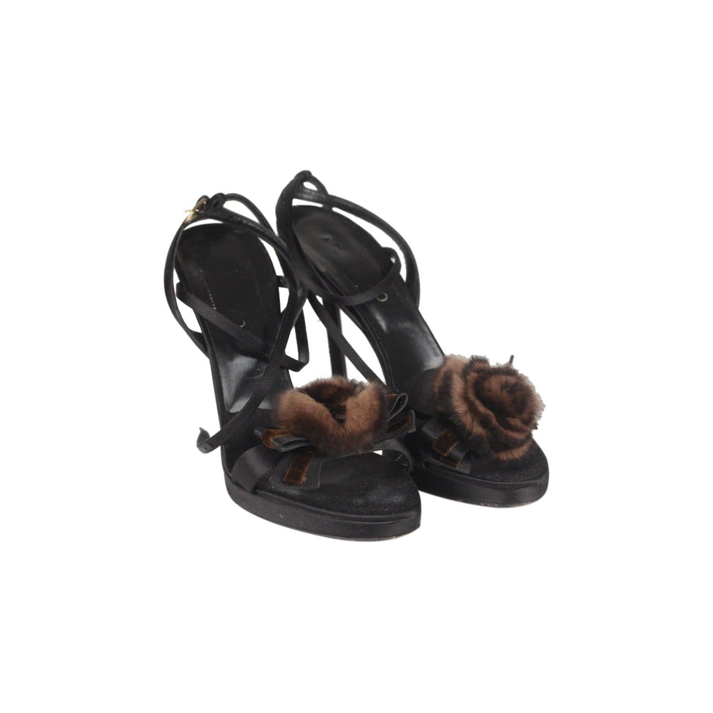 33970b9132dc Heeled Sandals Shoes With Fur Rose Size 39 Opherty   Ciocci