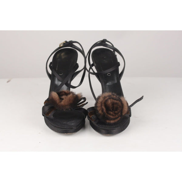 Heeled Sandals Shoes With Fur Rose Size 39 Opherty & Ciocci