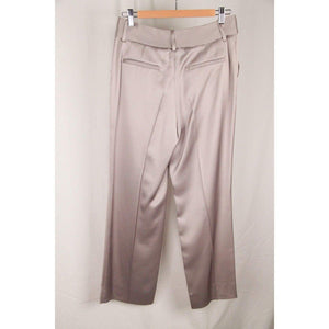 Valentino Light Gray Silk Pants Trousers With Bow Size 8 Opherty & Ciocci