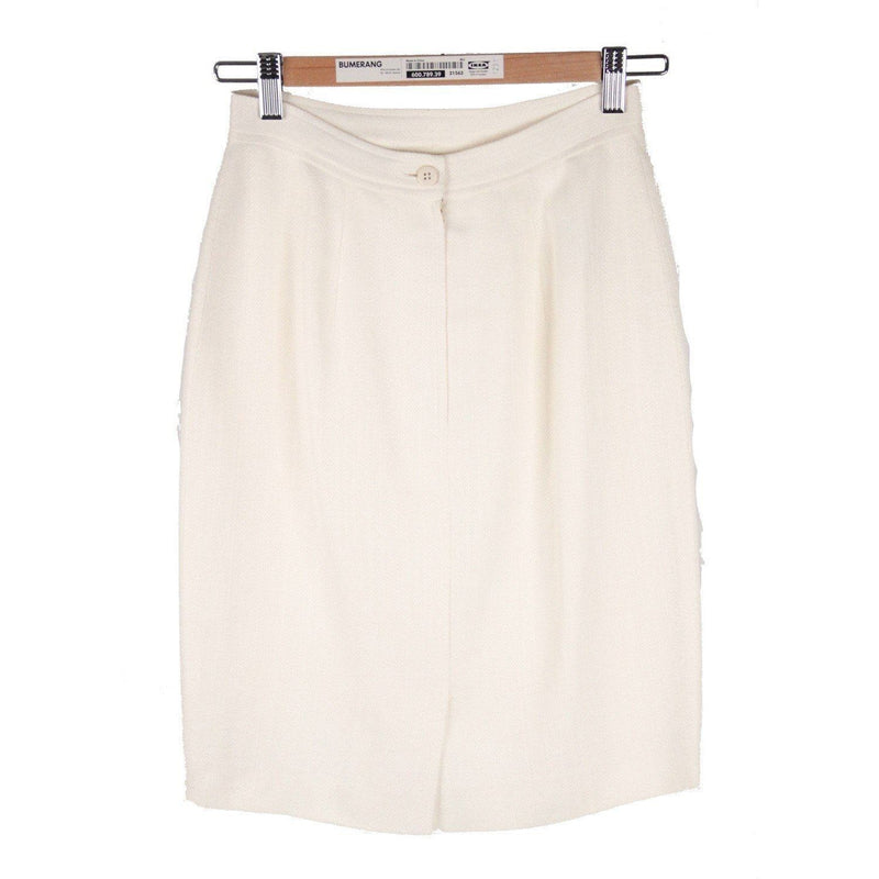 Valentino Miss V Vintage White Pencil Skirt Size 40 6 Opherty & Ciocci