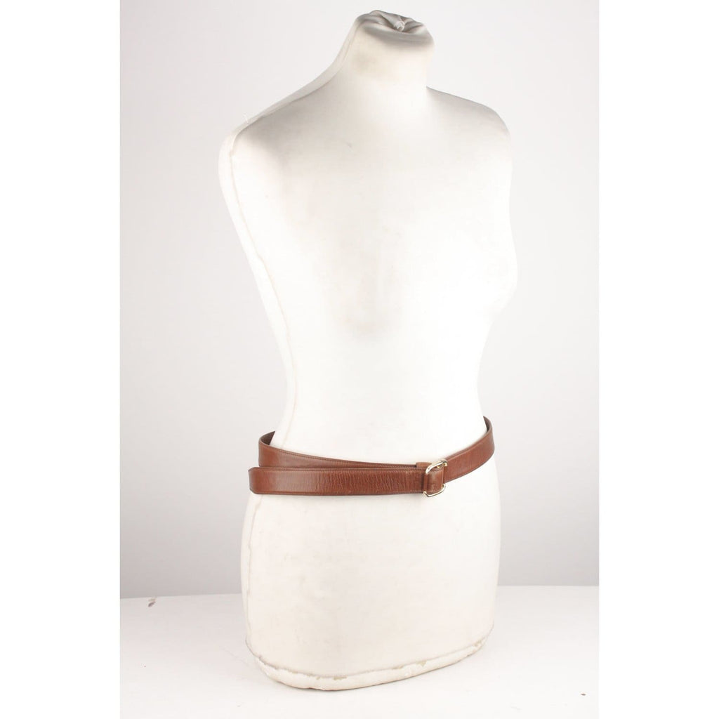 Vintage Brown Leather Belt Size 90 Opherty & Ciocci