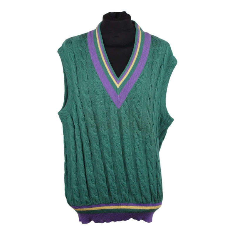 Vintage Green Wool Sleeveless Jumper Opherty & Ciocci