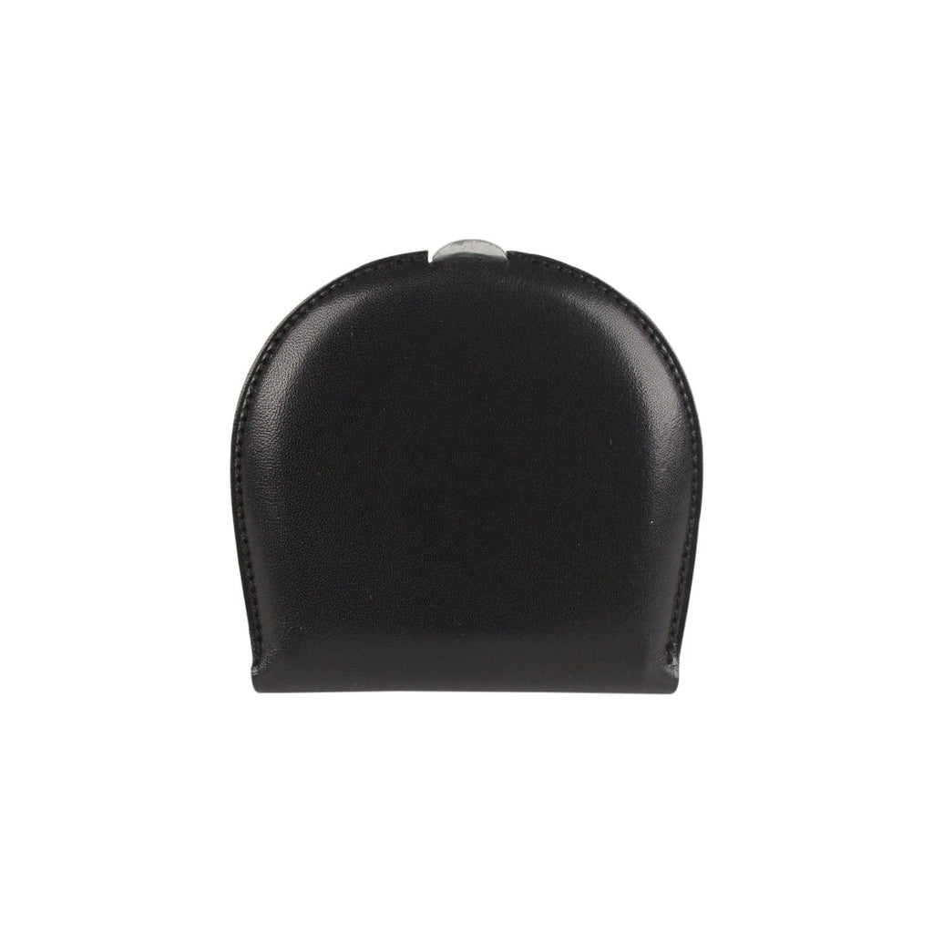 Black Leather Coin Purse Wallet Opherty & Ciocci