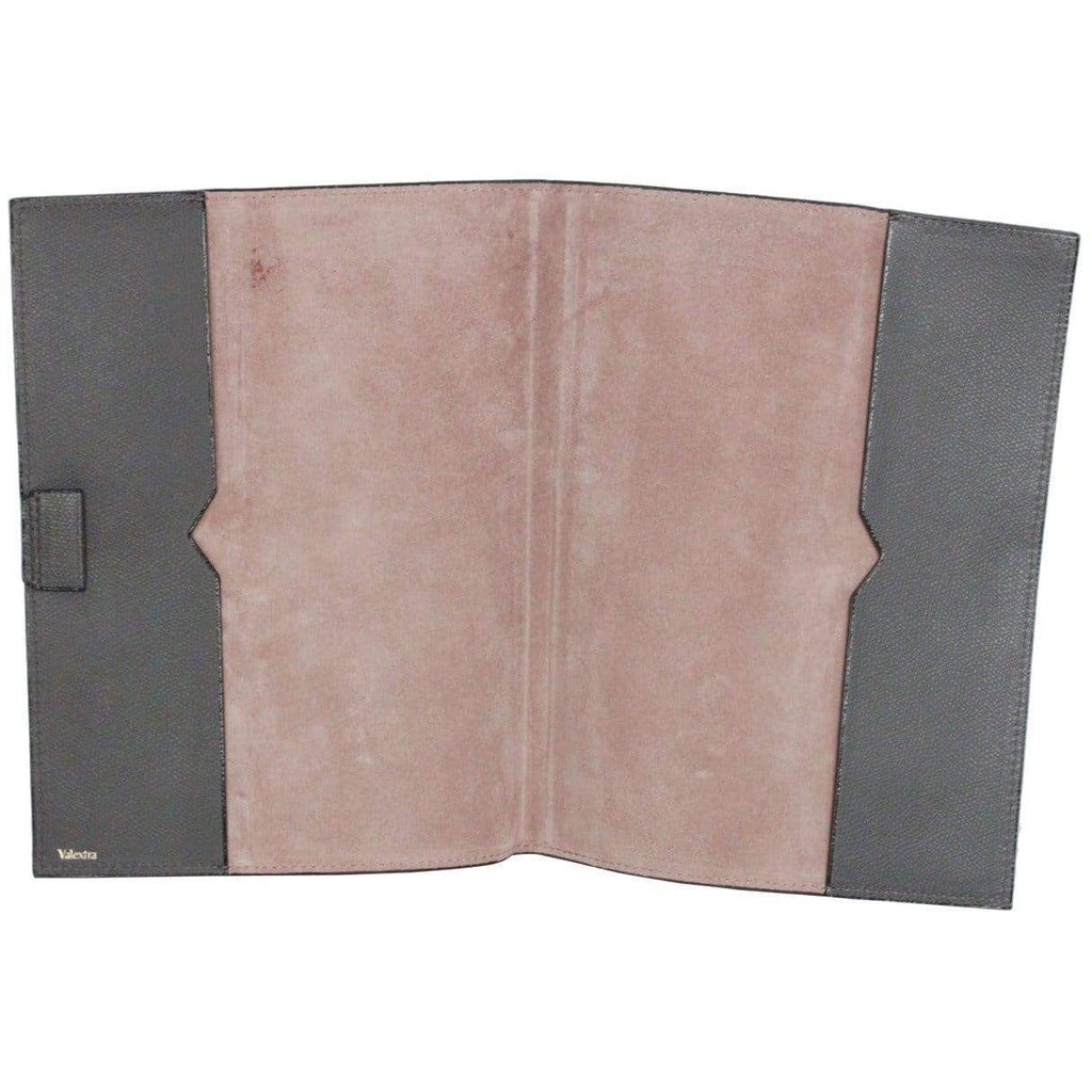 Valextra Gray Leather Notebook Cover Holder Opherty & Ciocci