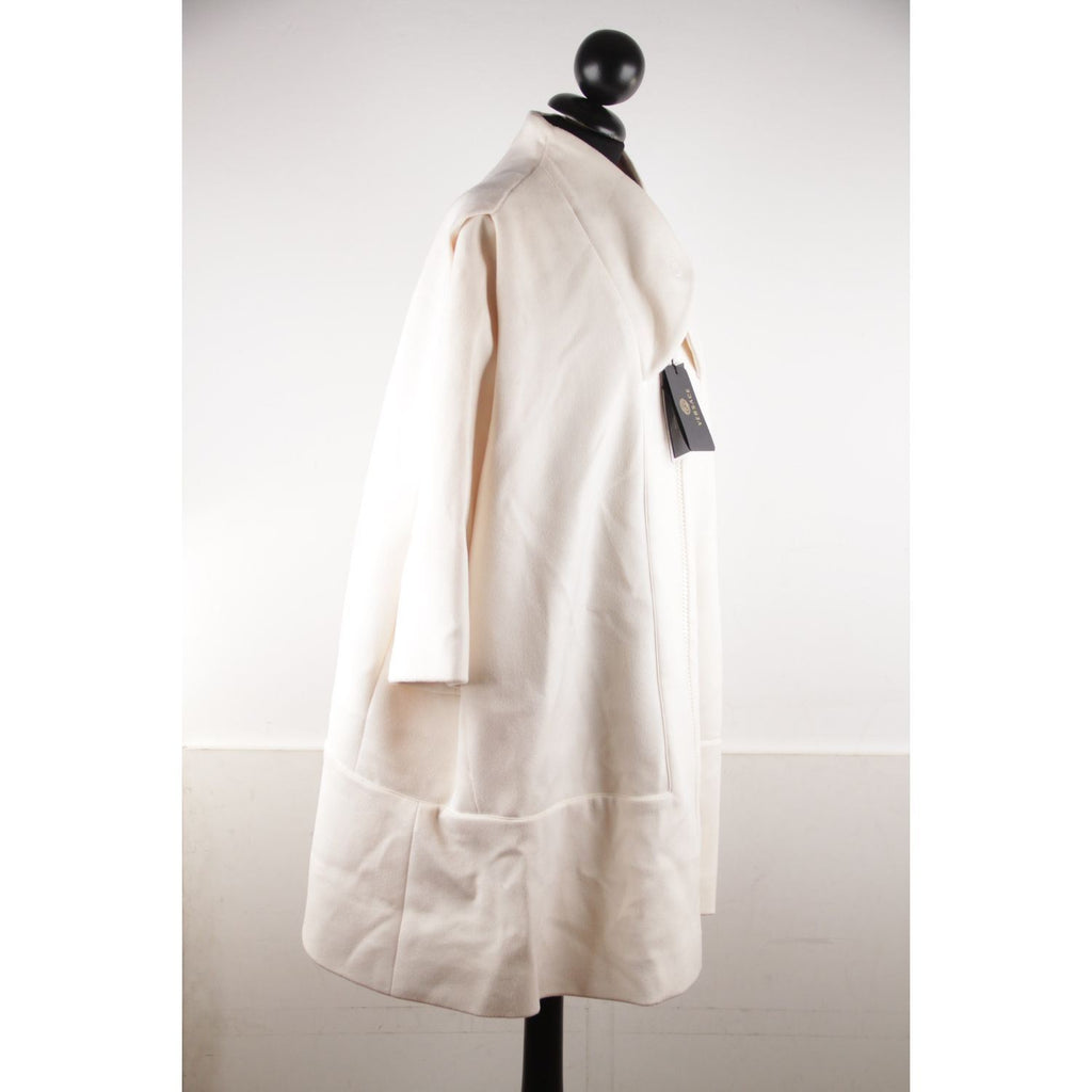 Ivory Wool And Silk Oversized Coat Opherty & Ciocci