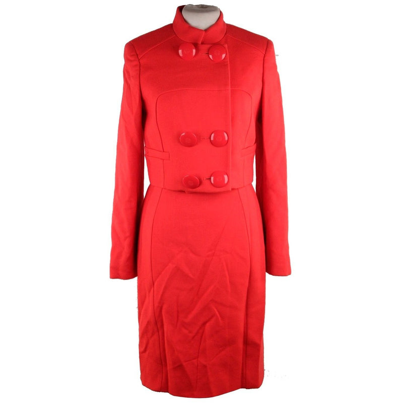 VERSACE Red Wool & Silk DRESS & JACKET Set SUIT 2007 Fall Collection