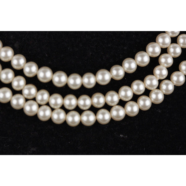 Vintage Small Faux Pearl Perlas Indra Necklace 925 Sterling Sliver Closure Opherty & Ciocci