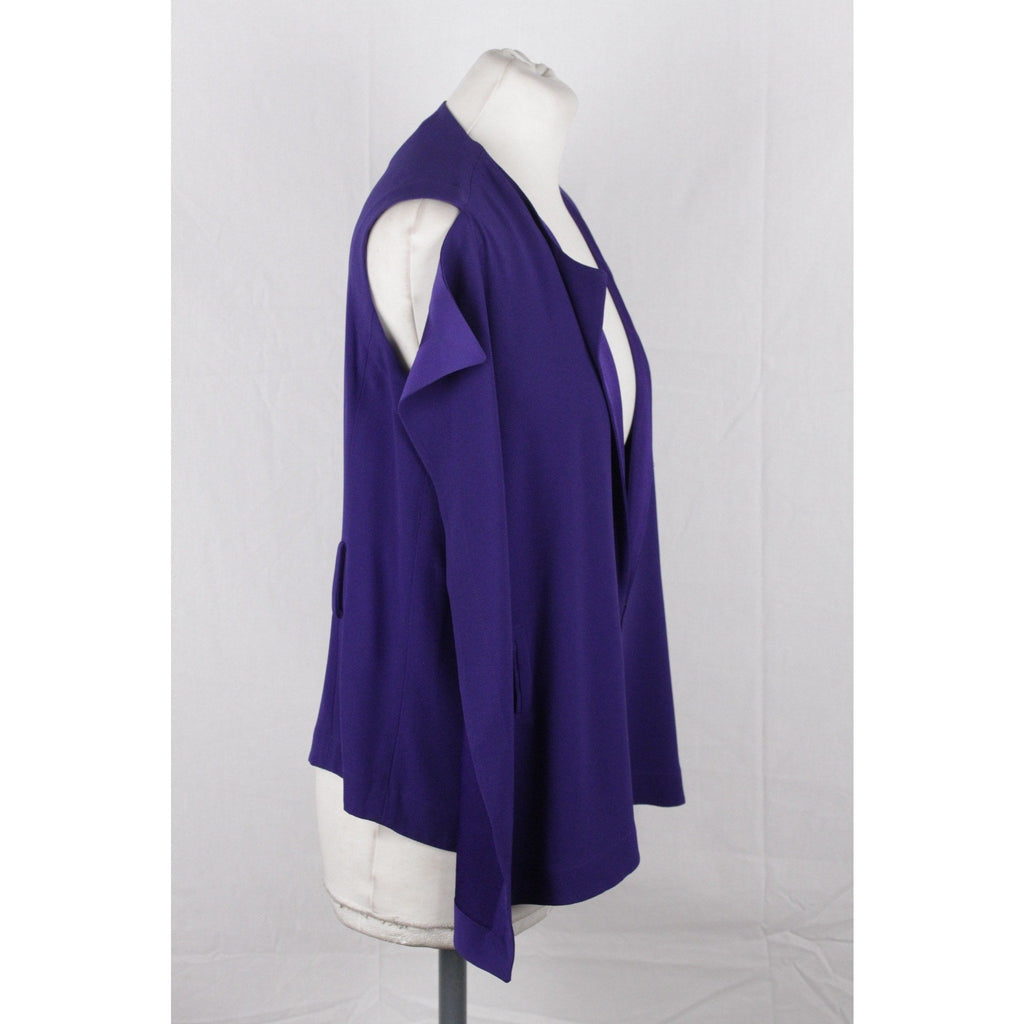 VIONNET Purple Silky Fabric SLEEVELESS BLOUSE Size 40 - OPHERTYCIOCCI