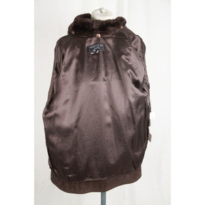 Weekend Max Mara Brown Leather Zip Jacket Size 40 Opherty & Ciocci