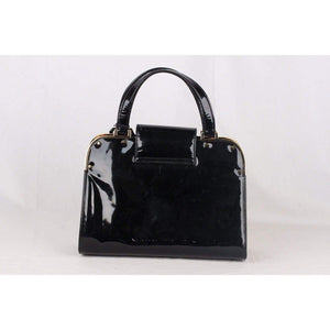 Yves Saint Laurent Black Patent Leather Uptown Bag Handbag Satchel Opherty & Ciocci
